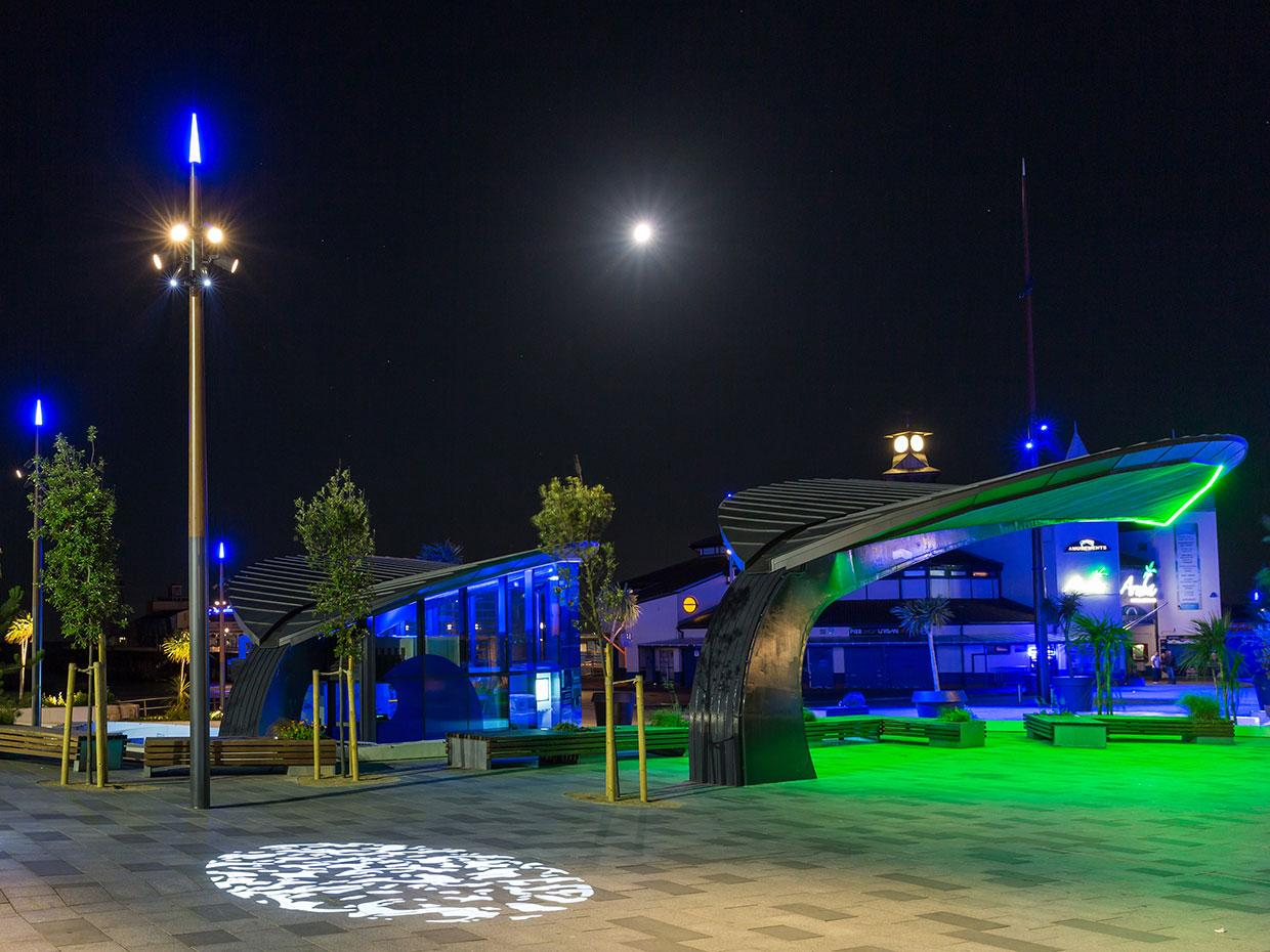Schréder developed a bespoke illumination scheme for Bournemouth Pier to create an unique nocturnal identity